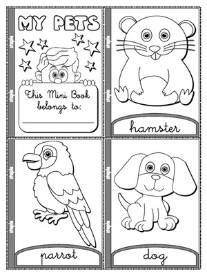 My Pets - Colouring Mini Book