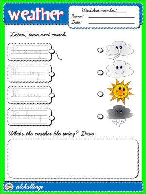 #THE WEATHER - WORKSHEET 1