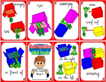 PLACE PREPOSITIONS MINI BOOK (VERSION FOR BOYS)