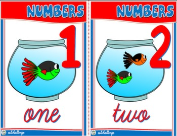 CARDINAL NUMBERS FLASHCARDS