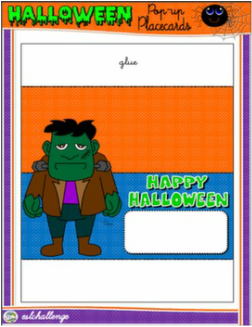 HALLOWEEN POP-UP PLACE CARD