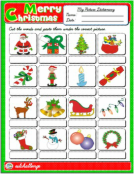 CHRISTMAS PICTURE DICTIONARY #