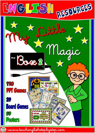 MY LITTLE MAGIC BOX 2 - GAMES AND POSTERS - Teach English Step By Step