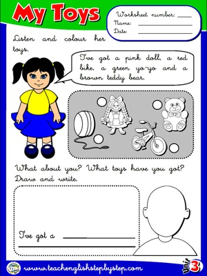 My Toys - Worksheet 3