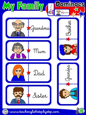 My Family - Dominoes (Picture - Word)