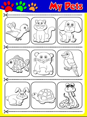 My Pets - Worksheet 2 (cutouts)
