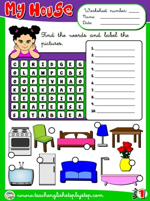 My house - Worksheet 5