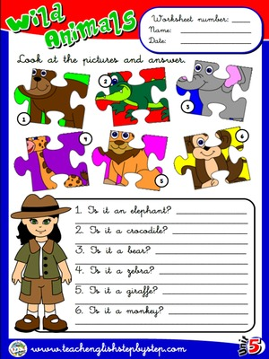 Wild Animals - Worksheet 3