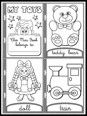 My Toys - Colouring Mini Book