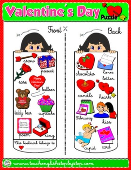 VALENTINE'S DAY BOOKMARK FOR GIRLS#