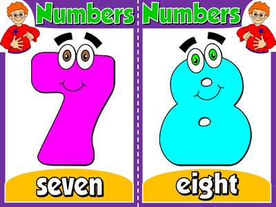 Numbers - Set of 10 Flashcards