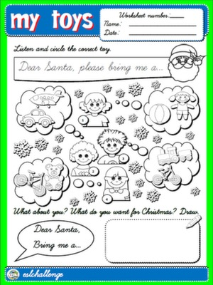 TOYS - WORKSHEET 4 (B&W)
