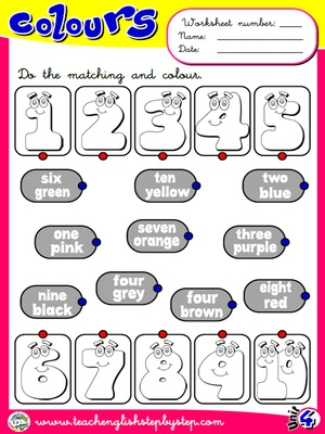 Colours - Worksheet 4
