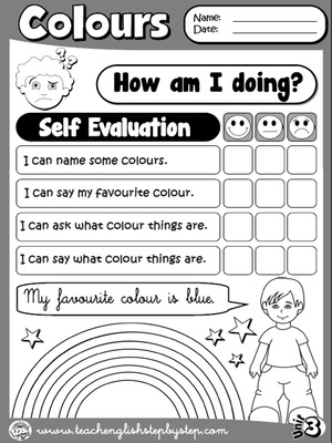 Colours - Self Evaluation (B&W version)