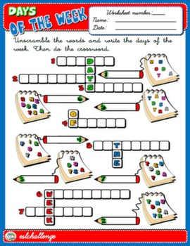 Number Names Worksheets : day of the week worksheets Day Of The ...