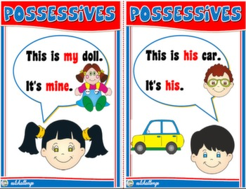 POSSESSIVES FLASHCARDS