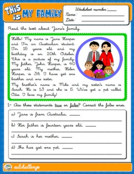 Lets talk about family teach english step by step family worksheet ibookread ePUb