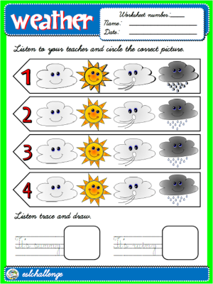#THE WEATHER - WORKSHEET 2