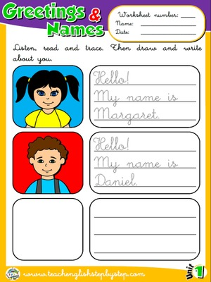 Greetings and Names - Worksheet 5