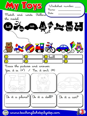 My Toys - Worksheet 6
