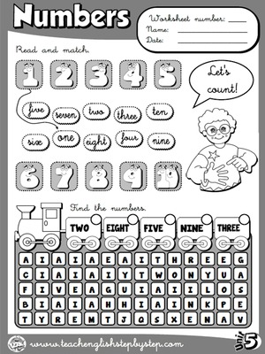 Numbers - Worksheet 5 (B&W version)