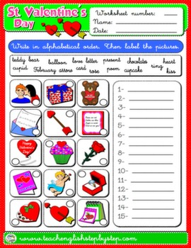 VALENTINE'S DAY WORKSHEET 3#