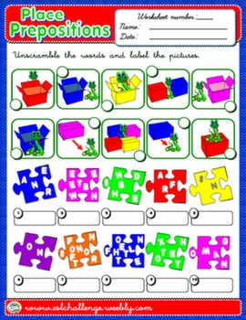 PLACE PREPOSITIONS WORKSHEET