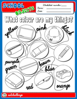 SCHOOL OBJECTS WORKSHEET