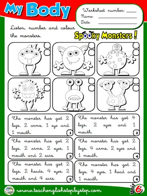 My Body - Worksheet 6