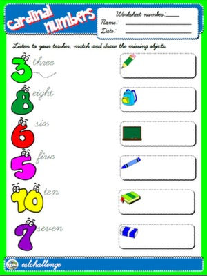 NUMBERS - WORKSHEET 2 #
