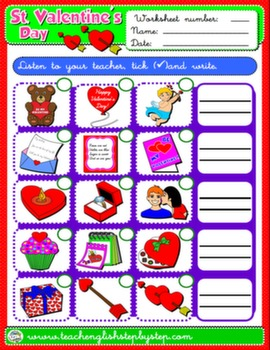 VALENTINE'S DAY WORKSHEET 4#