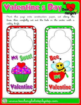 VALENTINE'S DAY DOOR HANGER 1#