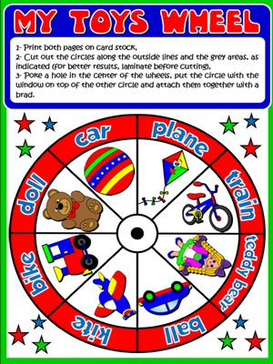 My Toys - Vocabulary Wheel - page 1