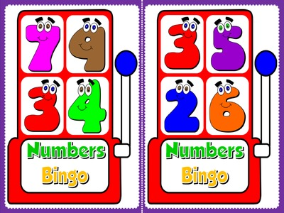 Numbers - Bingo (Set of 20 cards)