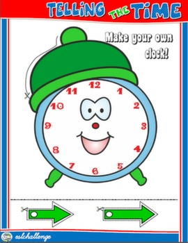 TELLING THE TIME CRAFTS CLOCK FOR BOYS