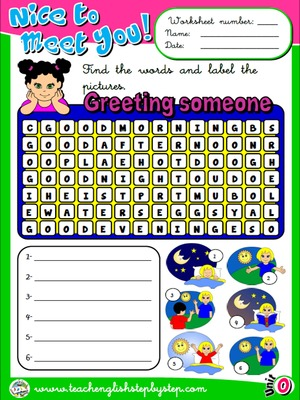 Greetings - Worksheet 3