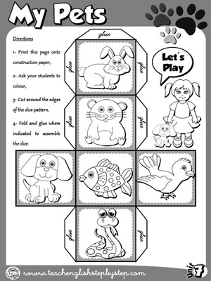 My Pets - Dice 2 (B&W version)