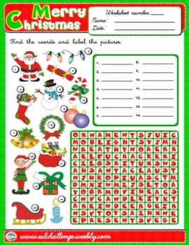 CHRISTMAS WORKSHEET #