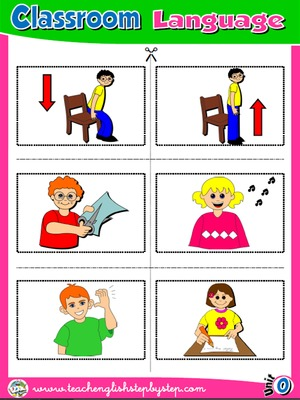 Classroom Language - Picture Dictionary Cutouts - page 2