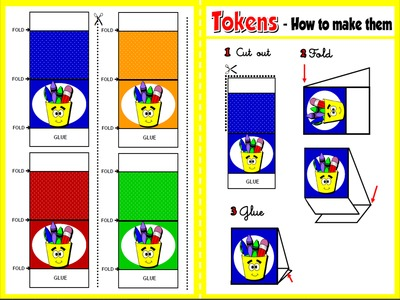 At School - Board Game (Tokens)