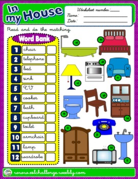HOUSE/FURNITURE WORKSHEET