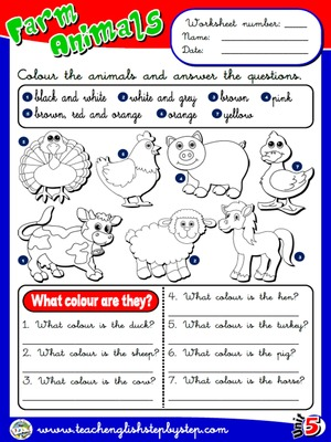 Farm  Animals - Worksheet 3