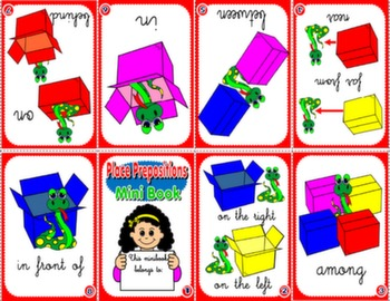 PLACE PREPOSITIONS MINI BOOK (VERSION FOR GIRLS)