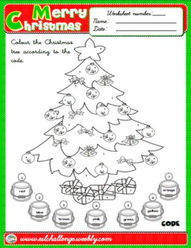 CHRISTMAS COLOURING WORKSHEET #