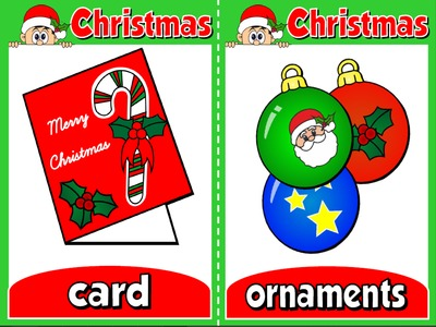 CHRISTMAS  FLASHCARDS (SET OF 20 CARDS)