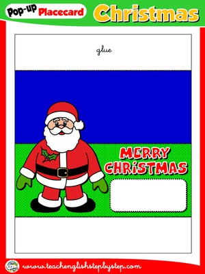 CHRISTMAS POP-UP PLACEMENT CARD