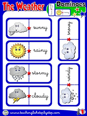 The Weather - Dominoes game (Picture - Word)