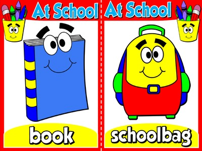 At School - Set of 9 Flashcards
