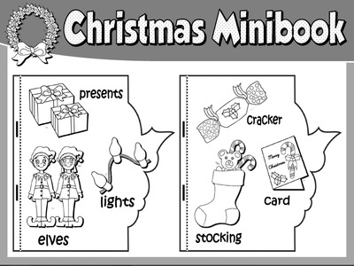 CHRISTMAS  VOCABULARY MINI BOOK (B&W VERSION)