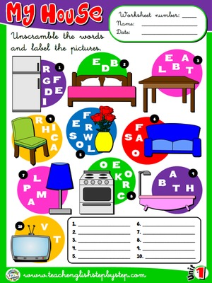 My house - Worksheet 7